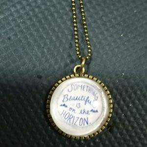 Something Beautiful is on the Horizon Necklace